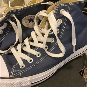 Men's hi top Converse Navy
